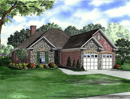 Traditional Style Home Design Plan: 12-1018