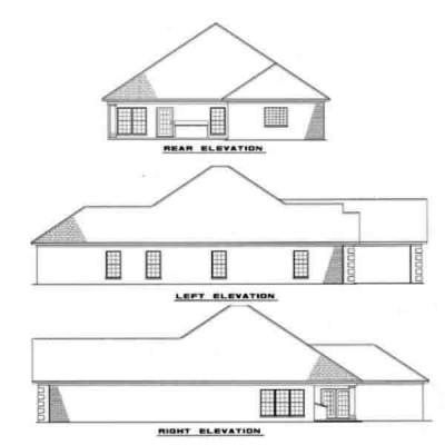 Rear Elevation Plan: 12-102