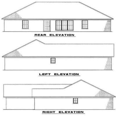 Rear Elevation Plan: 12-103