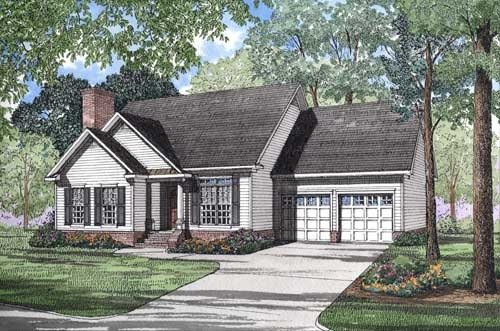 Traditional Style Home Design Plan: 12-1032