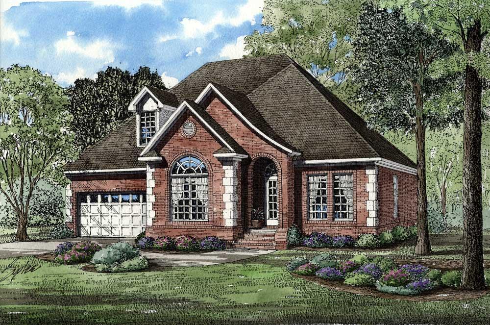 European Style House Plans Plan: 12-1033