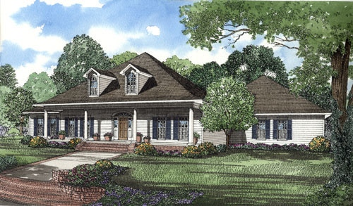 Southern Style Home Design Plan: 12-1043