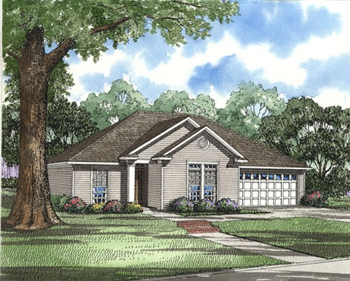 Traditional Style Home Design Plan: 12-1044