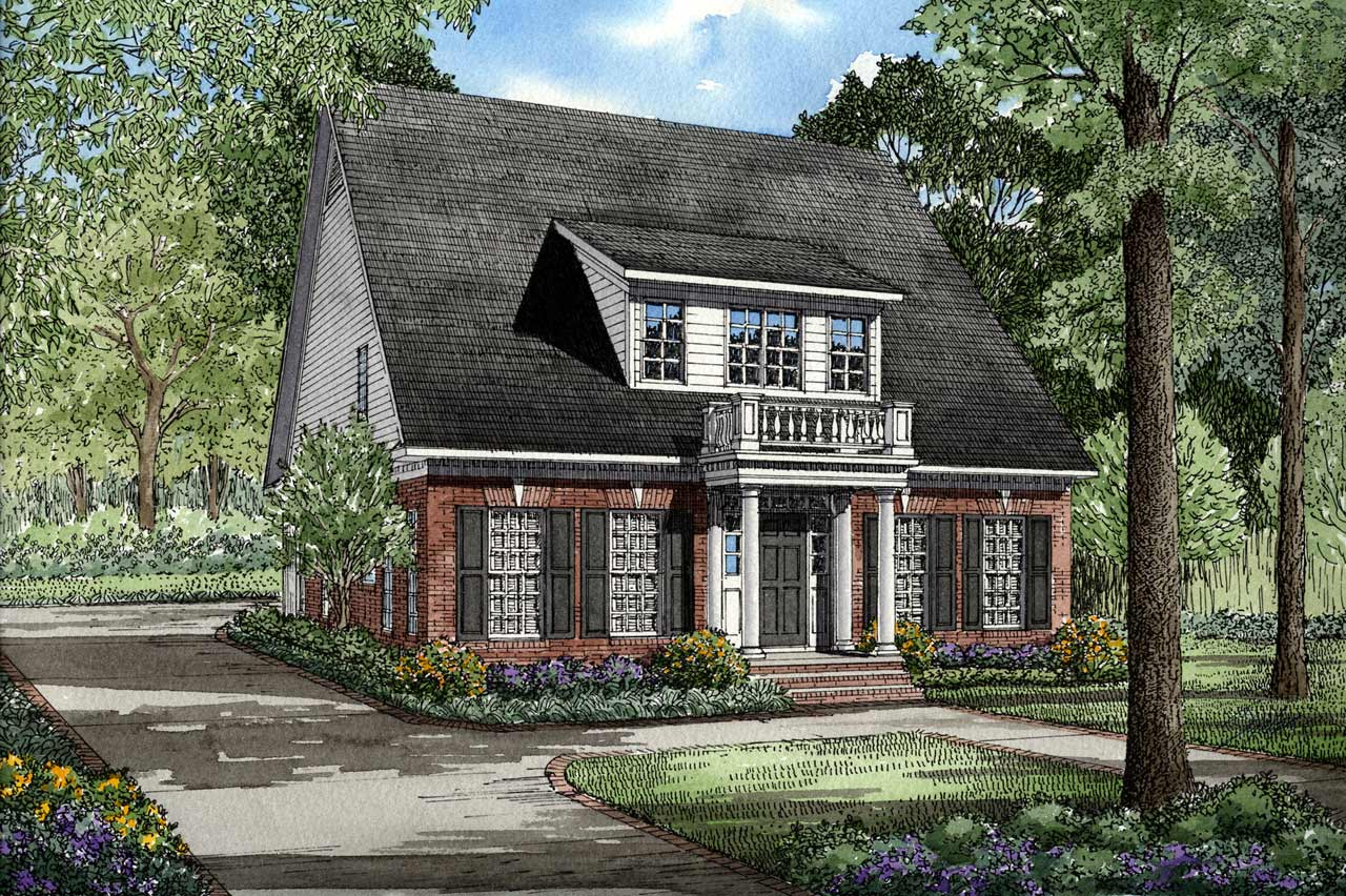 Country Style Home Design Plan: 12-105