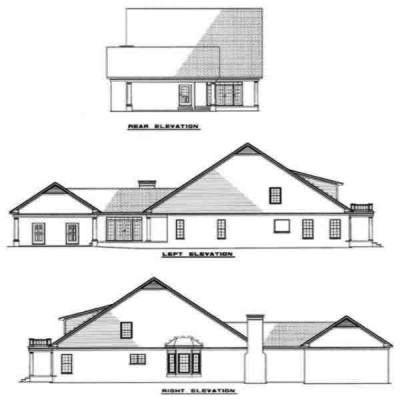 Rear Elevation Plan: 12-105