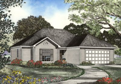 Traditional Style Home Design Plan: 12-1057