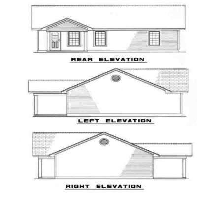 Rear Elevation Plan: 12-106