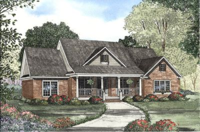 Southern Style House Plans Plan: 12-1064