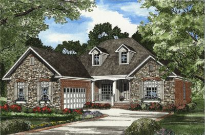 Traditional Style Home Design Plan: 12-1065