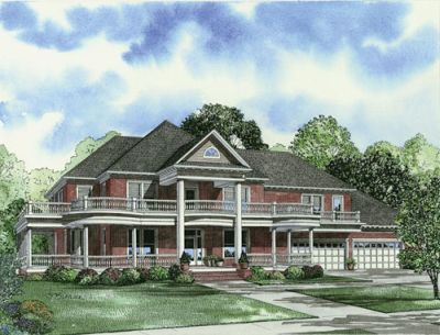 Southern Style Floor Plans Plan: 12-1068