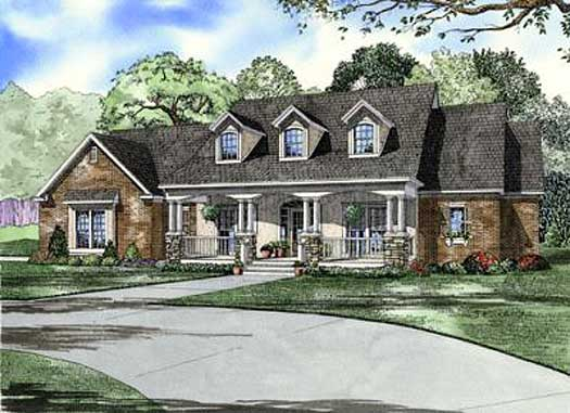 Southern Style House Plans Plan: 12-1069