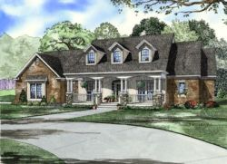 Southern Style Floor Plans Plan: 12-1069