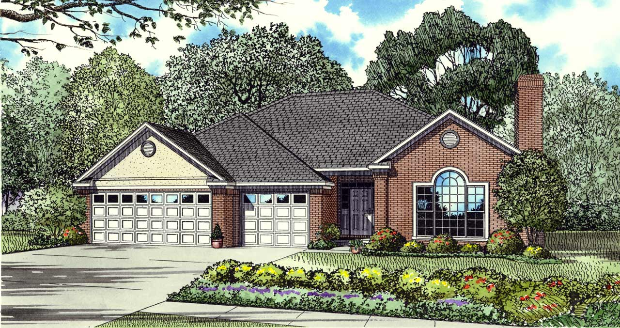 Traditional Style House Plans Plan: 12-107