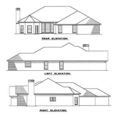 Rear Elevation Plan: 12-107