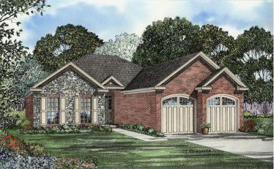 European Style House Plans Plan: 12-1071