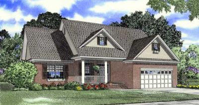 Southern Style Floor Plans Plan: 12-1074