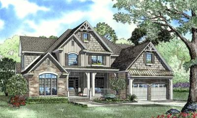 English-country Style House Plans Plan: 12-1075