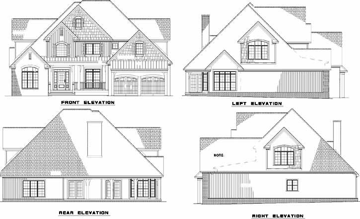 Rear Elevations Plan:12-1075