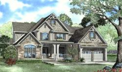 English-Country Style Floor Plans Plan: 12-1075