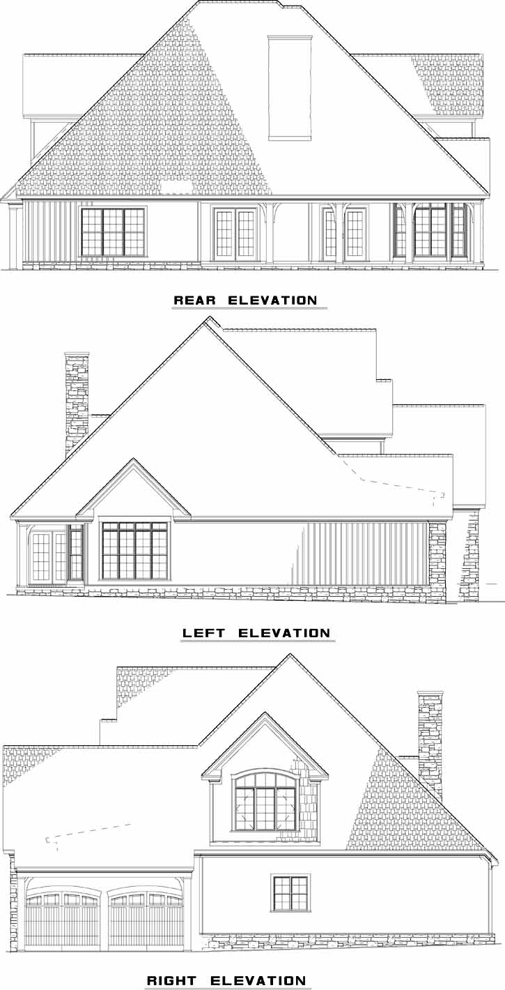 Rear Elevation Plan: 12-1079