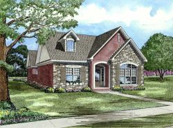 English-Country Style Floor Plans Plan: 12-1080