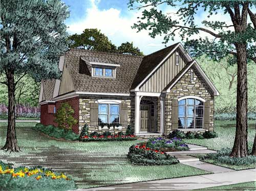 English-country Style House Plans 12-1081
