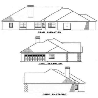 Rear Elevation Plan: 12-109