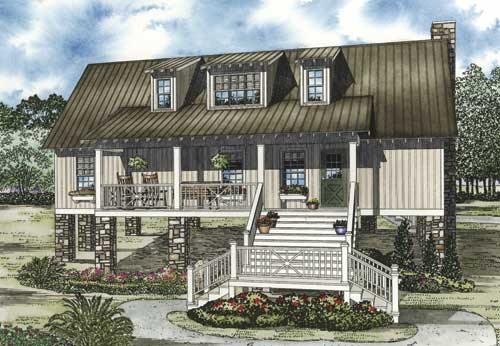 Mountain-or-rustic Style Home Design Plan: 12-1090