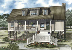 Mountain-or-Rustic Style Floor Plans Plan: 12-1090