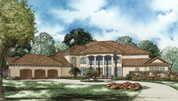 Mediterranean Style House Plans Plan: 12-1092