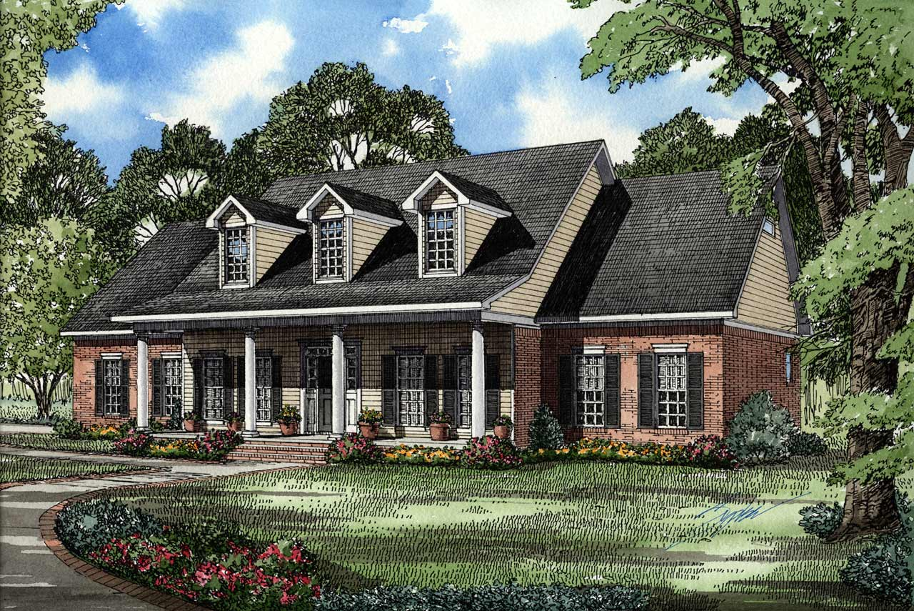 Southern Style Home Design Plan: 12-110