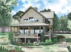 Country Style Floor Plans Plan: 12-1104