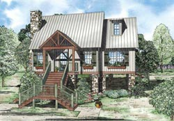 Mountain-or-Rustic Style House Plans Plan: 12-1105