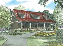 Country Style Floor Plans Plan: 12-1107