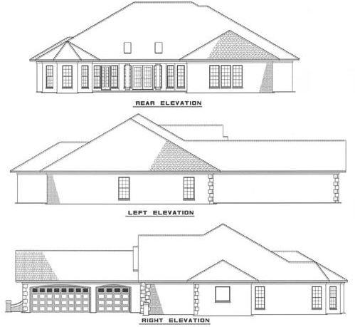 Rear Elevation Plan: 12-111
