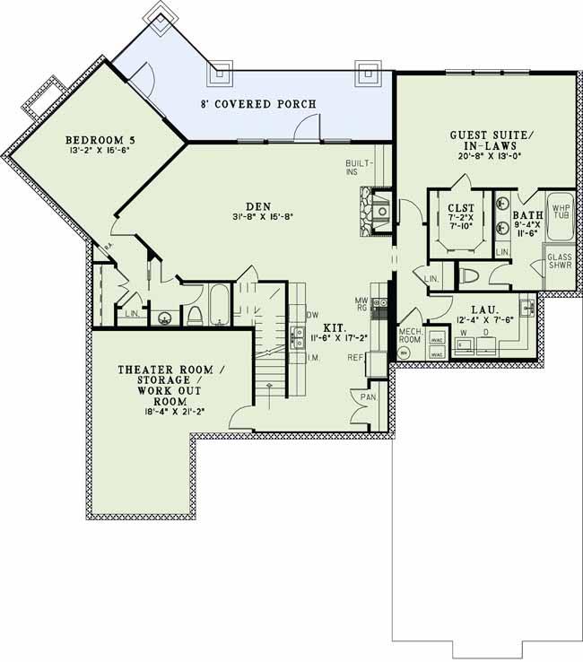 Lower Floor Plan:12-1111