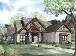 Craftsman Style Home Design Plan: 12-1111