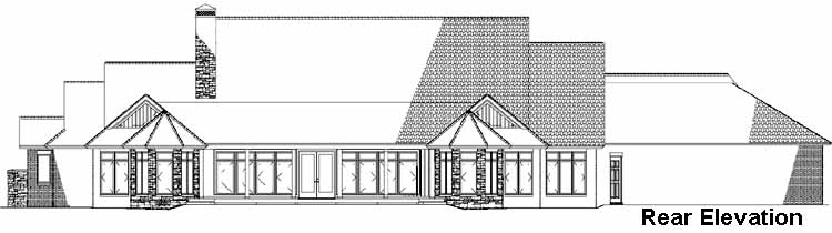 Rear Elevation Plan: 12-1115