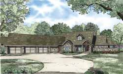 Ranch Style Home Design Plan: 12-1115