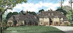 European Style Home Design Plan: 12-1120