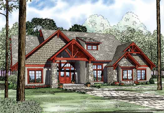 Mountain-or-rustic Style House Plans Plan: 12-1126