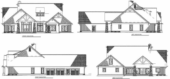 Rear Elevation Plan: 12-1126