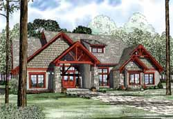 Mountain-or-Rustic Style Home Design Plan: 12-1126