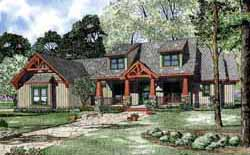 Craftsman Style Home Design Plan: 12-1127