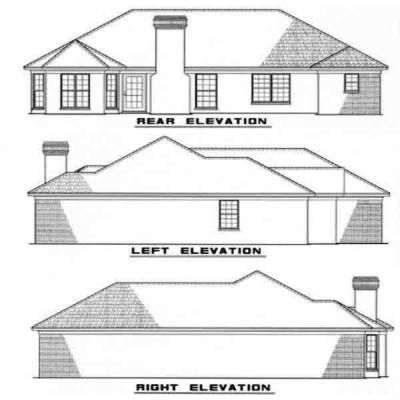 Rear Elevation Plan: 12-113