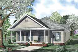 Southern Style Home Design Plan: 12-1135