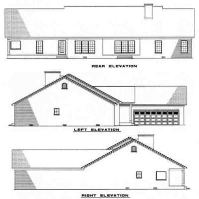Rear Elevation Plan: 12-114