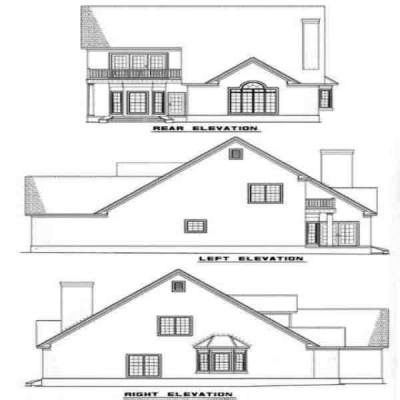 Rear Elevation Plan: 12-115