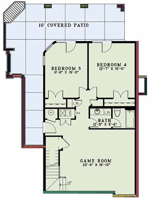 Lower Floor Plan: 12-1168