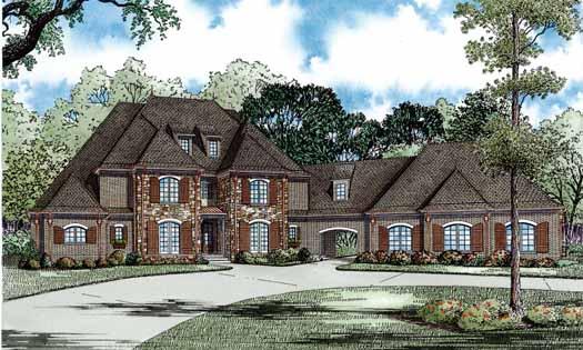 European Style House Plans Plan: 12-1169